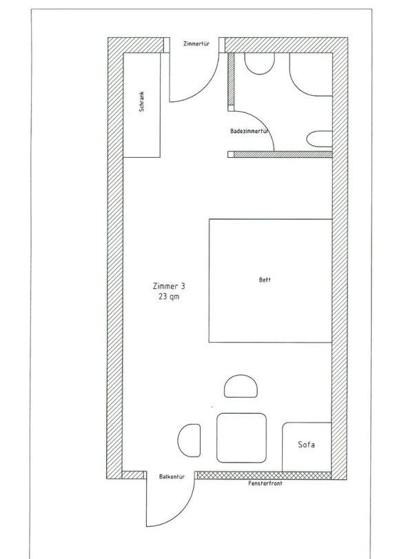 Zimmerplan Zimmer 3