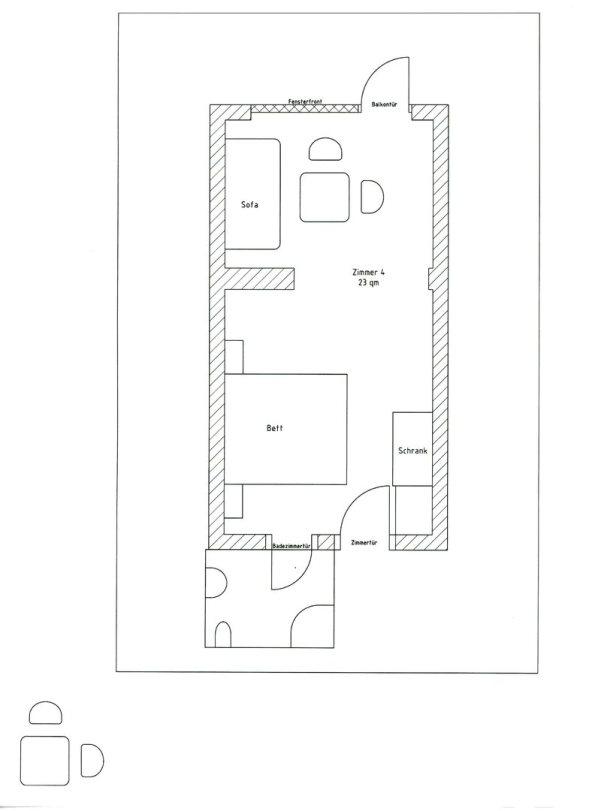 Zimmerplan Zimmer 4