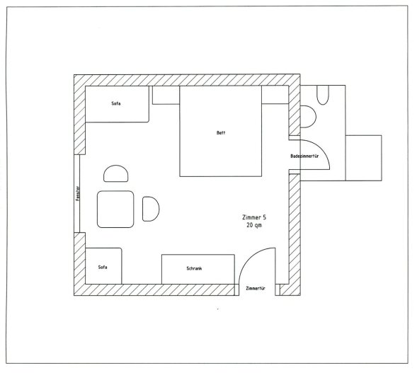 Zimmerplan Zimmer 5