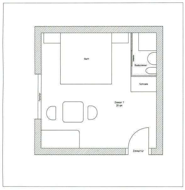 Zimmerplan Zimmer 7